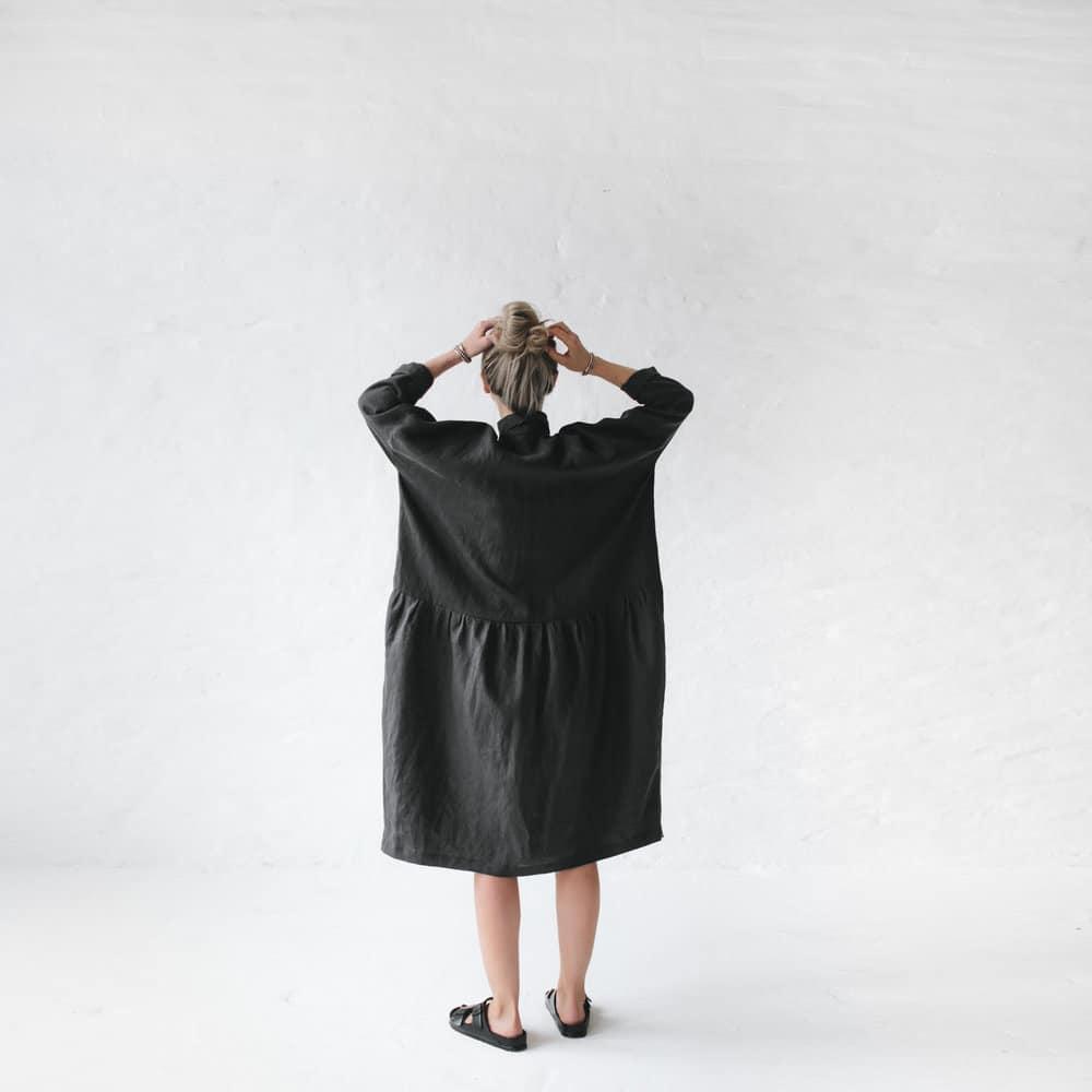 cc10338b17 Seaside Tones Linen Oversized Dress - Bathing Beauty Dunsborough